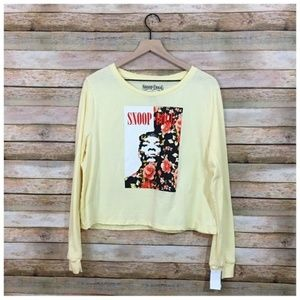 NWT Snoop Dogg Cropped Graphic Tee - XL